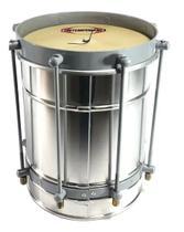Cuíca Contemporânea Alumínio Pele Couro Light 08x23cm -