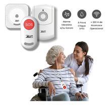 Cuidador Idoso Sem Fio Alarme Emergencia Wifi Botão SOS Grávidas Pacientes de Cada Kit Completo - Zawa