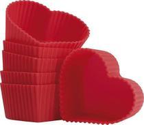 Cupcake e Muffin Formas Avulsas de Silicone - Coração - Mor -