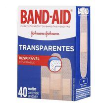 Curativo Adesivo Transparente Band-Aid Com 40 Unidades - Johnson E Johnson