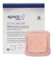 Curativo Aquacel Ag Foam Sem Adesivo 08 x 08 cm (Caixa c/ 10 und.) 420805 - Convatec -