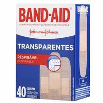 Curativo Band-Aid Transparente c/ 40 Unidades - Johnson & Johnson