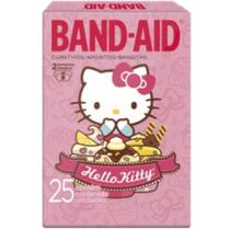 Curativo transparente band aid c/25 hello kitty - Sem marca