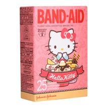 Curativos Band Aid Decorados Hello Kitty 2 Tamanhos 25 unidades - Band-Aid