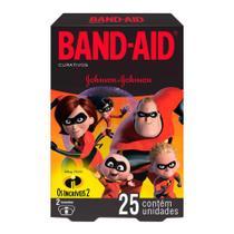 Curativos Band Aid Decorados Os Incríveis 2 Tamanhos Variados 25 Unidades - Band-Aid