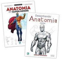 Curso Desenho Anatomia Dos Super Heróis - 2 Livros -
