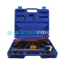 Curvador tubo de cobre com cortador e escariador 3/8 1/2 5/8 3/4 7/8  pressao et404l - Ecotools