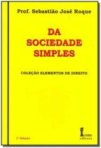 Da Sociedade Simples - 01Ed/11 - Icone