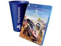 Dakar 18 para PS4 - Bigmoon + Copo PlayStation Azul