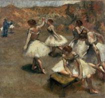 Dançarinas no Palco - Edgar Degas - 60x64 - Tela Canvas Para Quadro - Santhatela