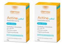 Darrow Actine Control Sabonete Pele Oleosa 80g - 2 unidades -