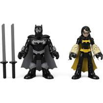 Dc Super Friends Imaginext - Black Bat & Batman Ninja - Mattel -