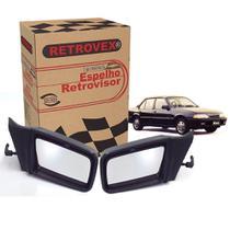 De Espelho Retrovisor Com Controle Manual Retrovex Monza 1994 A 1996 Kit843 -