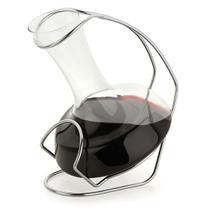 Decanter de Vidro para Vinho com Suporte em Aço Cromado 900 ml Forma -
