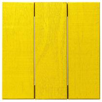 Deck Colorido Painel Modular 30x30 Isabela Revestimentos (Placa) Amarelo Estrada -