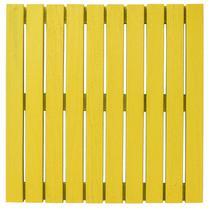 Deck Colorido Painel Modular 50x50 Isabela Revestimentos (Placa) Amarelo Estrada -