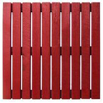 Deck Colorido Painel Modular 50x50 Isabela Revestimentos (Placa) Vermelho Tomate Seco -