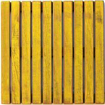Deck Colorido Painel MS Pátina 50x50cm Isabela Revestimentos Amarelo -