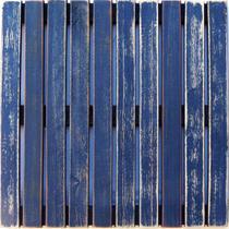 Deck Colorido Painel MS Pátina 50x50cm Isabela Revestimentos Azul -