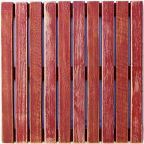Deck Colorido Painel MS Pátina 50x50cm Isabela Revestimentos Vermelho -