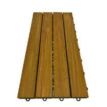 Deck de Madeira Modular 4 Ripas 30x60 Kit 15 Peças (2,5m²) - Scrock Pisos