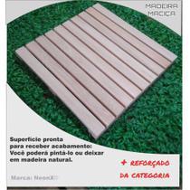 Deck De Madeira Modular Base Madeira 50x50cm Neonx -