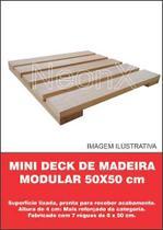 Deck De Madeira Modular Base Madeira 50x50cm Réguas 8 Cm NeonX -
