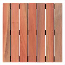 Deck de Madeira Modular Base Madeira Isabela Revestimentos 50cmx50cm (Placa) Natural -