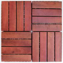 Deck de Madeira Modular Base Plástica Isabela Revestimentos 30cmx30cm (Placa) Imbuia -