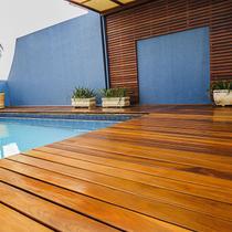 Deck em régua Isabela 2cm x 10cm x 2m até 4m Madeira Cumaru (m²) - Isabela Revestimentos