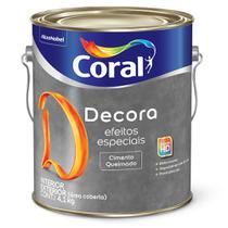 Decora Efeitos Especiais Cimento Queimado Coral 4,1kg -