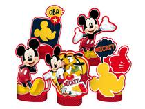 Decoração de Mesa 5 Unidades - Mickey Classico - Regina Festas -