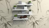 Decoração de parede para vasos e quadros com kit de instalação fred planejados -