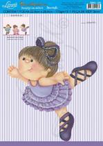 Decoração para parede MDF Decoupage Menina Bailarina DMA3-028 - Litoarte -