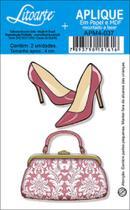 Decoupage Aplique em Papel e MDF Bolsa e Sapato APM4-037 - Litoarte -