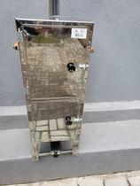Defumador Caseiro Inox 430 30x30x80 - Eliza -