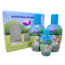 Delikad Kids Safari Blue Kit - Shampoo + Condicionador + Colônia -