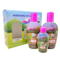 Delikad Kids Safari Pink Kit - Shampoo + Condicionador + Colônia -