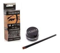Delineador Matte Glamour Em Gel Longa Duração Fenzza+ Pincel -