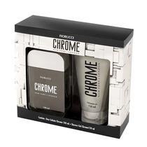 Deo Colônia Fiorucci Chrome 100ml + Shower Gel -