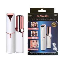 Depilador Batom Portatil Facial Buço Rosto Carregamento USB - Professional Beauty