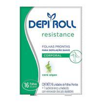 Depilador DepiRoll Resistance Cera Fria para Virilha e Pernas Folhas Prontas - Depi Roll