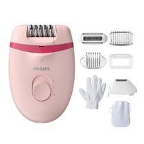 Depilador Elétrico Philips Satinelle Essential com 7 acessórios Rosa - BRE285/00 -