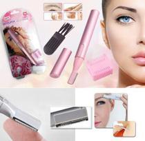 Depilador Removedor Aparador Pelo Sobrancelha Buço Caneta Rosa Facil Portátil Eletrico Feminino -