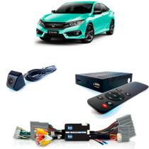 Desbloqueio De Multimidia com TV Full HD e Câmera Frontal Honda Civic 2018 Sem HDMI - Faaftech