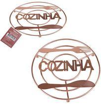 DESCANSO DE PANELA COZINHA ROSE GOLD 20cm - Wellmix