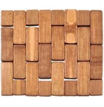 Descanso De Panela De Bambu Quadrado 15Cm - Casita imporiente -