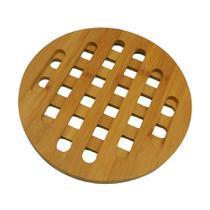 Descanso de panela redondo em bamboo 17,5 x 1cm - homecook -