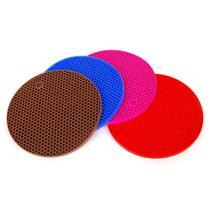Descanso de Panela Silicone Redondo Colors 17,5cm - 5 Estrelas