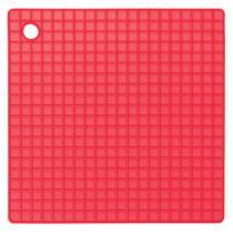 Descanso de Panela Silicone Vermelho Quadrado ou Redondo Quadrado - Zanline